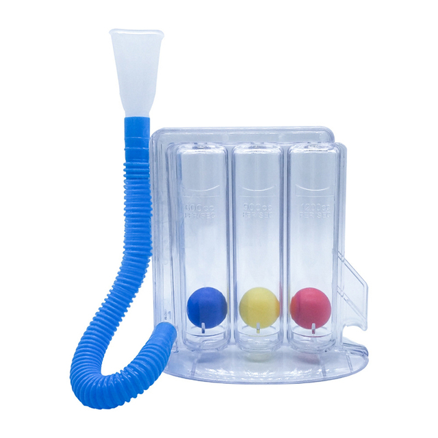 Rehabilitation Breathing Trainer Vital Capacity Exercise Three Ball Instrument Lung Function Breathing Respiratory Exerciser yr2 1