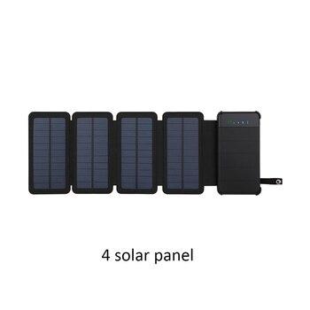 Ηλιακός Φορτιστής Με Πάνελ 10000mah Διπλή θύρα usb Εξωτερική Συσκευή Πτυσσόμενη Αδιάβροχη Τροφοδοσία Ρεύματος