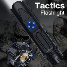 LSL LED Super Bright Flashlight USB Rechargeable Aluminum Alloy Multifunctional Tactical Torch 1800lm