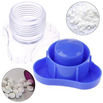 1 sztuk Pill Pulverizer Tablet Grinder medycyna Cutter Crusher i schowek Crush medycyna specjalnie zaprojektowany Pill Crusher Grinder tanie i dobre opinie Jiauting Plastic