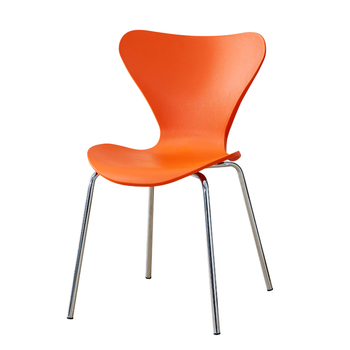 Modern minimalist iron chair restaurant fashion creative butterfly chair home dining chair stainless steel back chair