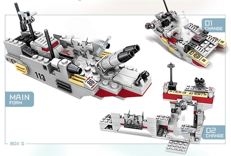 1000+ PCS Military Warship Navy Aircraft Army Figures Building Blocks LegoINGlys Army Warship Construction Bricks Children Toys (11)