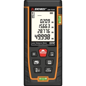 Image 1 - 50m 70m 100m 120m Laser Distance Meter  Laser Range Finder Rangefinder Metro Trena Laser Tape Measure Ruler Roulette Tool