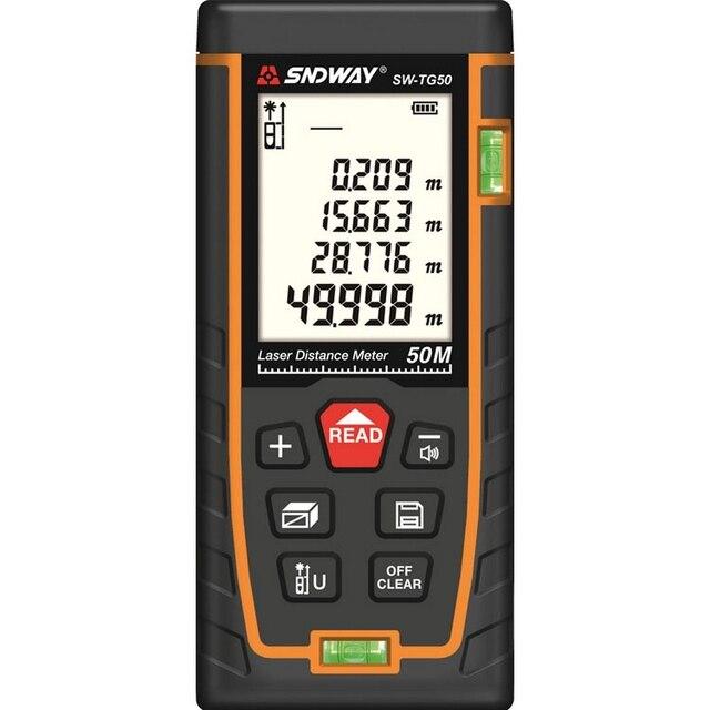 50m 70m 100m 120m Laser Distance Meter  Laser Range Finder Rangefinder Metro Trena Laser Tape Measure Ruler Roulette Tool