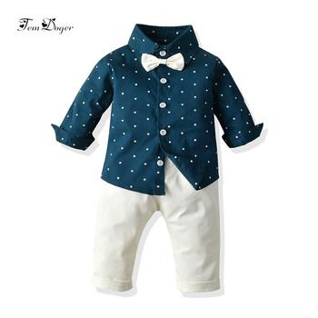 Tem Doger zestawy ubrań dla chłopców jesień noworodków chłopców ubrania koszulki z motywem kreskówkowym + spodnie 2 sztuk dla chłopców malucha ubrania sportowe tanie i dobre opinie Moda Bawełna Suknem REGULAR Pasuje prawda na wymiar weź swój normalny rozmiar Skręcić w dół kołnierz Dziecko Boys baby