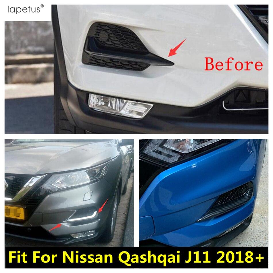 Color : Front // Ajuste for Nissan Qashqai Dualis J11 2,019 2,020 frente del coche del marco de la ceja trasera antiniebla Luz ajuste de la cubierta del cromo del ABS Accesorios Exterior