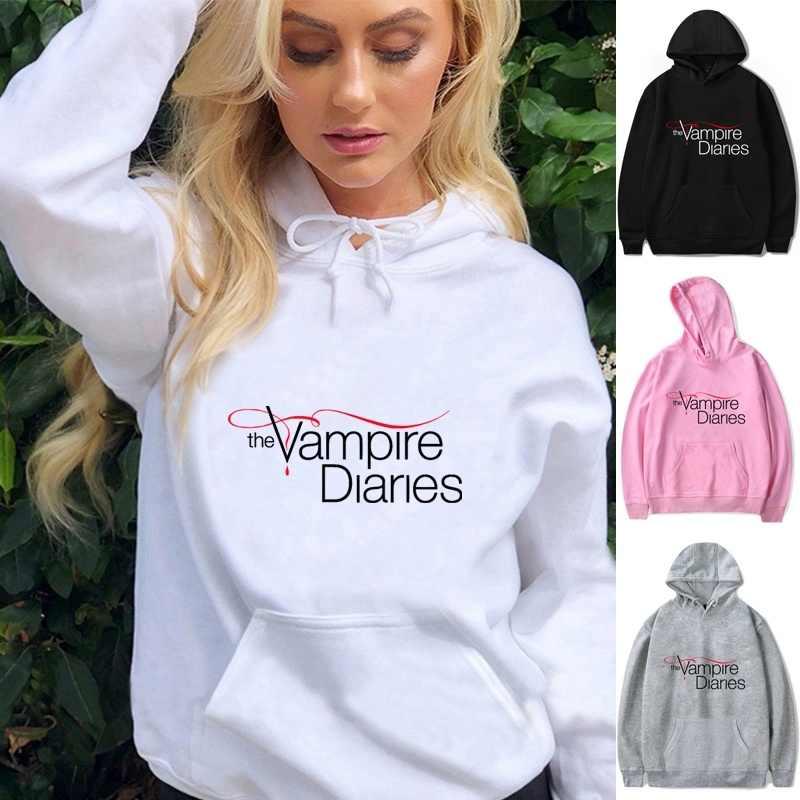 The Vampire Diaries Pullover Hoodies Men Women Casual Hooded Sweatshirt Jumper