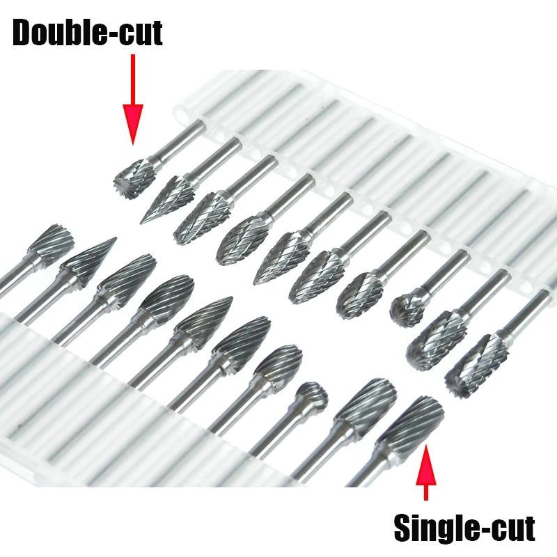 Conical Single Cut Cutting Tungsten Carbide Rotary Burr 6mm Head Diameter