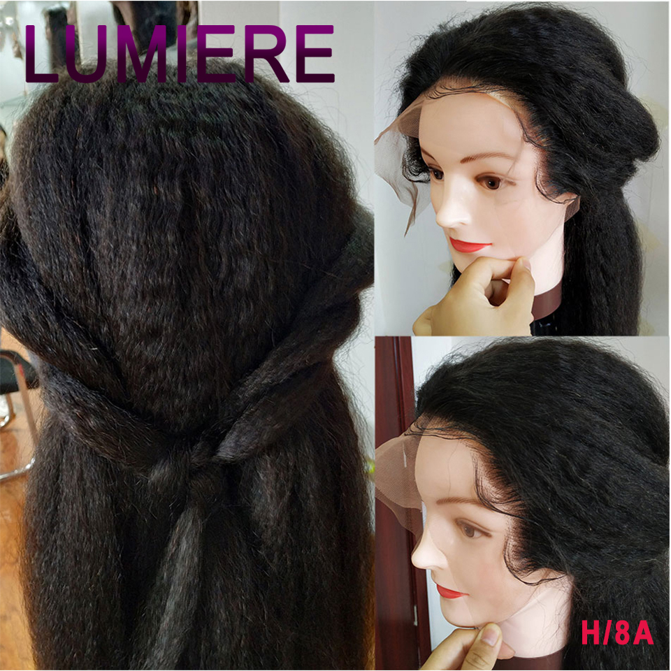 Yaki Straight Wig 13X4 Lace Front Wig Indian Remy Human Hair Wigs For Black Women Pre Plucked With Baby Hair Yaki Human Hair Wig