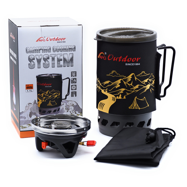 APG 1400ml Camping Gas Stove Fires Cooking System and Portable Gas Burners 5