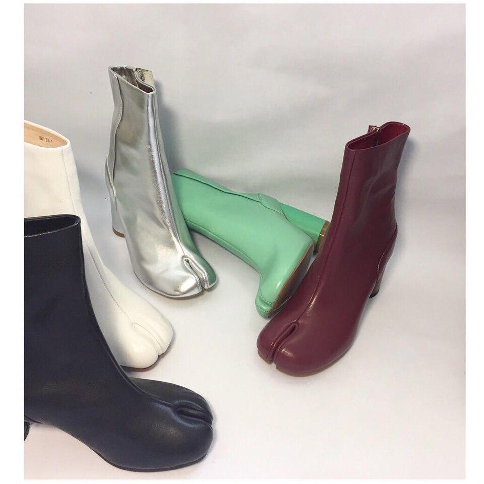 F M; пикантные ботильоны с раздельным носком; женские натуральные кожаные военные ботинки; Цвет черный, коричневый; короткие мотоботы для женщин; Размеры 35 42 - 5