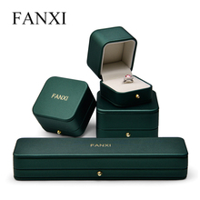 Oirlv New Fahion PU Leather jewelry Box with Metal Button of Ring Pendant Bracelet Box packaging Showcase