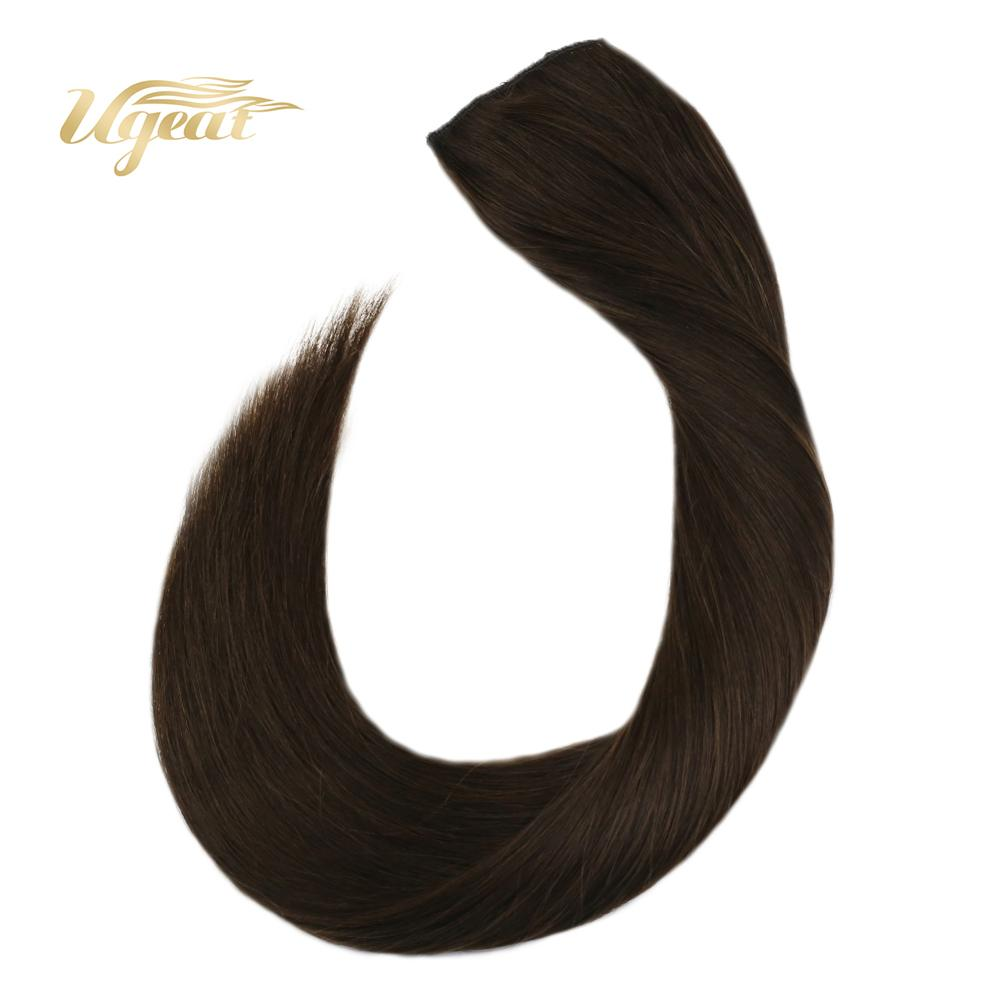 Ugeat Halo Hair Extensions Real Brazilian Human Hair Extensions 12-22