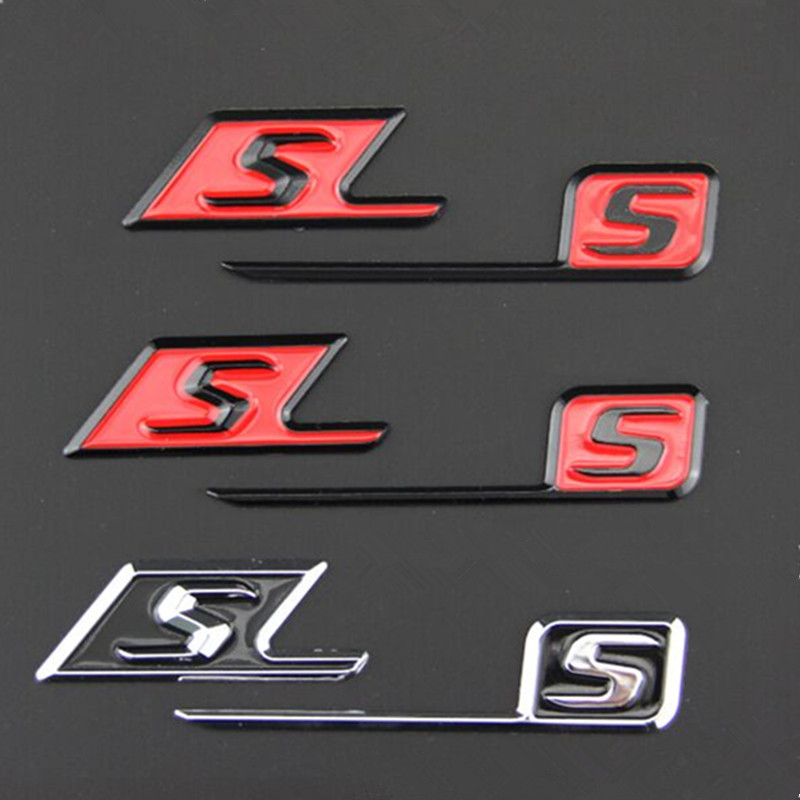 ABS S Badge car rear <font><b>emblem</b></font> sticker for <font><b>Mercedes</b></font> Benz AMG SAMG w117 cla45 w205 c63 w212 e63 w207 w176 a45 w204 <font><b>w211</b></font> accessories image