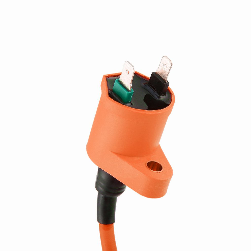 Spark-Plug Coil-6-Pin Igniter Modified-Orange-Ignition 150CC AC for GY6 A7TC title=