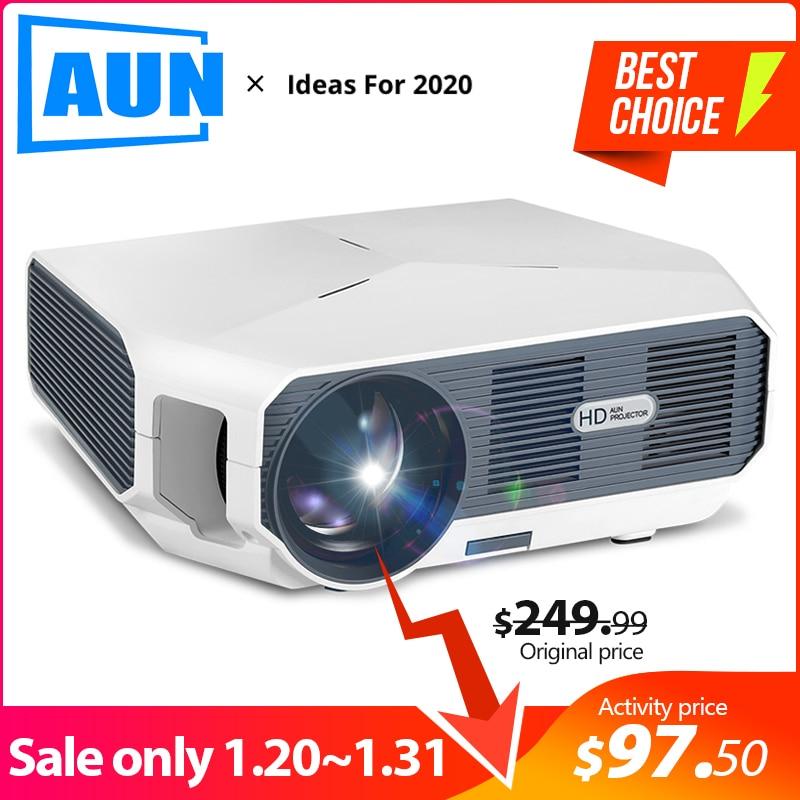 AUN LED Projektor ET10, 3800 lumen, 1280x720 P, Optional Mirroring/Android WIFI Projektor, unterstützung 1080P Video 3D MINI beamer
