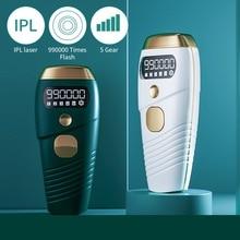 990000 Flash IPL Laser Hair Removal Machine Quartz Lamp Photon Permanent Device 5 Levels Auto Facial Body Hair Trimmer Epilator