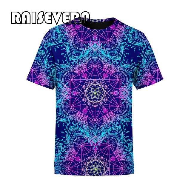 Psychedelic men t shirt top 다채로운 3d 인쇄 trippy tee 여성 남성 패션 의류 하라주쿠 셔츠 2020 summer top outfits tees