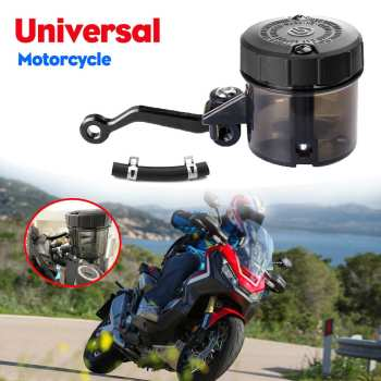 Universal Motorcycle Front Brake Fluid Reservoir Clutch Fluid Bottle Master Cylinder Oil Tank Cup For Honda For Suzuki image