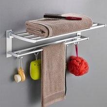 Складной держатель для полотенец настенная вешалка в ванной