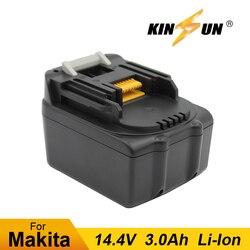 Kinsun Power Tool Batterij 14.4V 3.0Ah Li-Ion Voor Makita Accuboormachine Schroevendraaier BL1430 194065-3 194066-1 BSS500Z