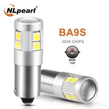 цена на NLpearl 2x Signal Lamp Ba9s Led Bulb T11 LED BA9S T4W 9SMD 3030 Chips For Car License Plate Light Auto tInterior Dome Lights 12V