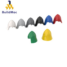 BuildMOC 3844 MINI KNIGHTS HELMET For Building Blocks Parts DIY Construction Creative gift Toys