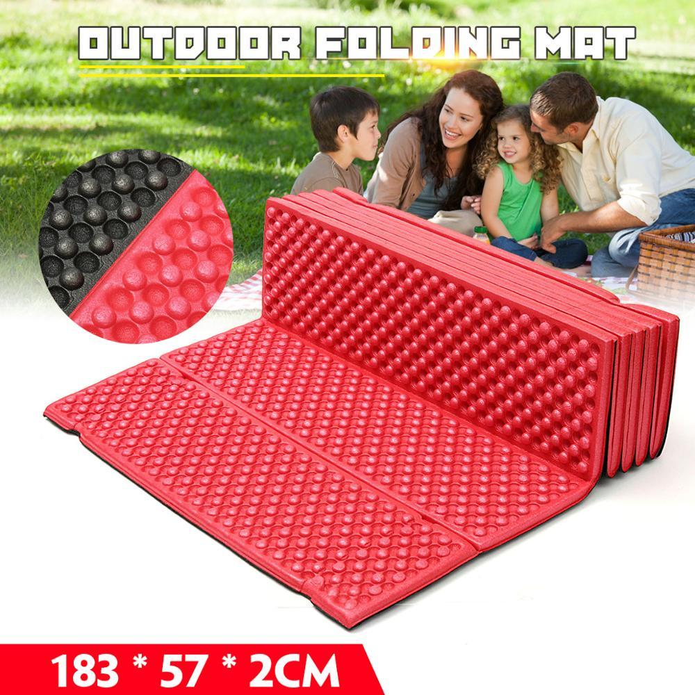 Outdoor Camping Mat Ultralight Foam Picnic Mat Folding Egg Slot Beach Mat Tent Sleeping Pad Moistureproof Camping Mattress
