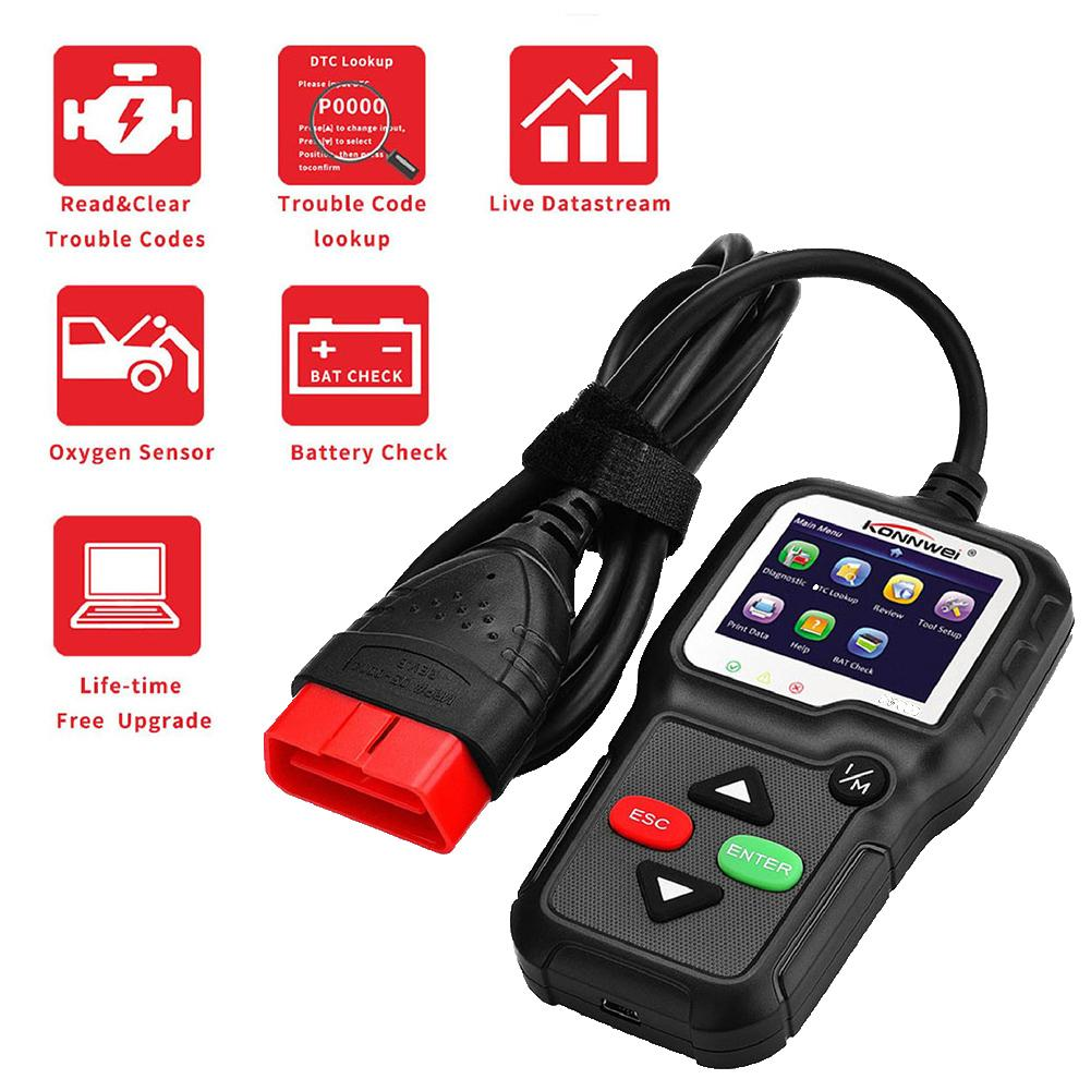 OBD-II protocols Diagnostic Scanner Auto Car Engine Fault Code Reader EOBD Scan Tool Support eight languages Car Accessories