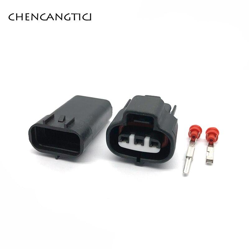 5 Sets Pcs 3 Pin Way Female Or Male Auto Connector 6189-0099 90980-10841 For VSS Toyota 1JZ 2JZ Map Sensor
