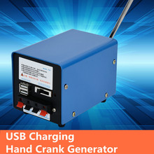 Hand-Crank-Generator Charger Emergency-Hand-Power Blue High-Power Portable