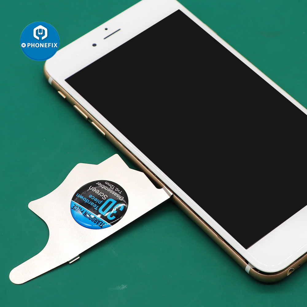 PHONEFIX 3D Teardown Piece Stainless Steel 0.12MM Thickness Opening Card For IPhone Repair Mobile Repair Screen Opening Tools