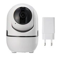 Śledzenie ruchoma głowica kamera monitorująca podczerwień Internet dwukierunkowe wykrywanie ruchu Audio ostrzega bezpieczeństwo w domu tanie tanio Dpower wireless NONE HD 1080 P CN (pochodzenie)