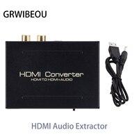 Convertidor Extractor de Audio HDMI a HDMI SPDIF adaptador óptico RCA L/R soporte 5.1CH formato salida DAC amplificador decodificador