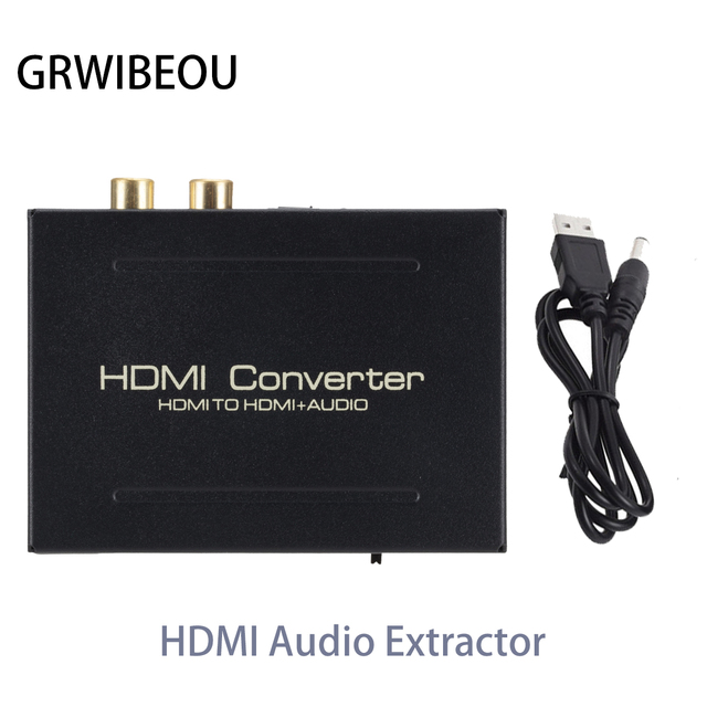 HDMI Audio Extractor Converter HDMI to HDMI SPDIF Optical RCA L/R Adapter Support 5.1CH Format Output DAC Amplifer Decoder