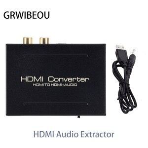 Image 1 - HDMI Âm Thanh Máy Hút Bộ Chuyển Đổi HDMI Sang HDMI SPDIF Quang RCA L/R Adapter Hỗ Trợ 5.1CH Định Dạng Đầu Ra Đắc Amplifer bộ Giải Mã