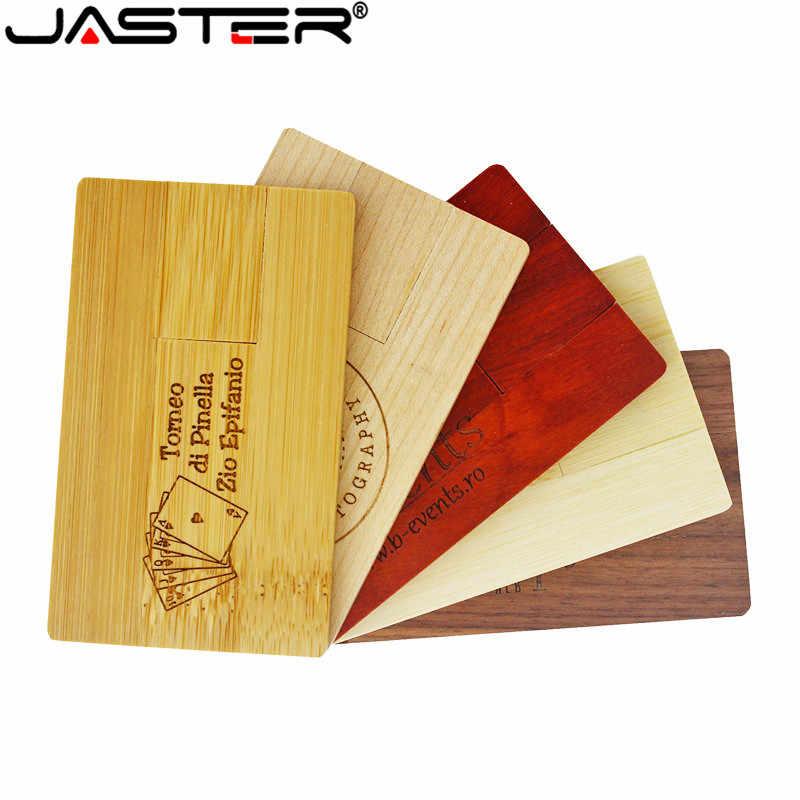 O logotipo de madeira de bambu personalizado de jaster gravou o logotipo de madeira vermelha 4 gb 8 gb 16g 32 gb 64 gb cartão de madeira modelo de memória de usb vara