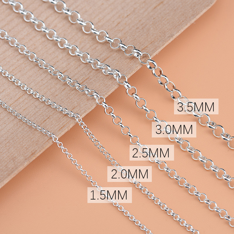 925 Sterling Silver Semi-finished DIY Chain Chain Bracelet Bracelet Anklet Special Pearl Chain Hand-beaded Material Accessories