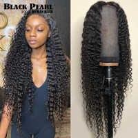 Peluca brasileña de ondas profundas prearrancada, peluca con malla frontal y pelo de bebé, 13x4, para mujeres negras