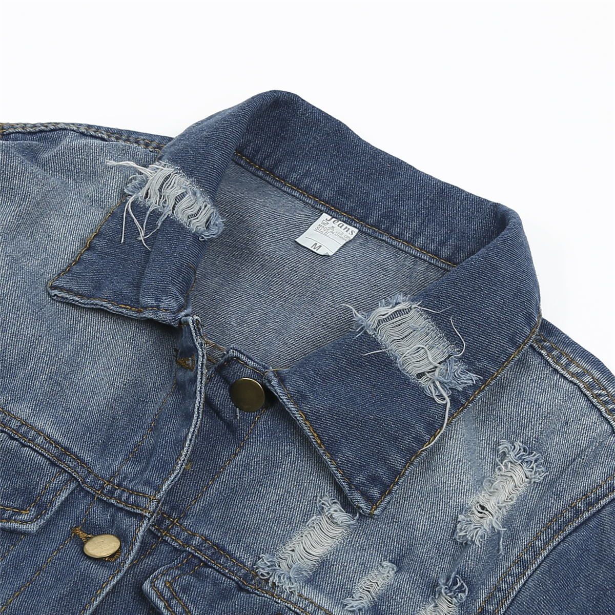 Solid Turn down Collar Jean Jacket for Women Loose Casual Blue Fashionable Women Coats Female outwear Solid Turn-down Collar Jean Jacket for Women Loose Casual Blue Fashionable Women Coats Female outwear Denim Feminine