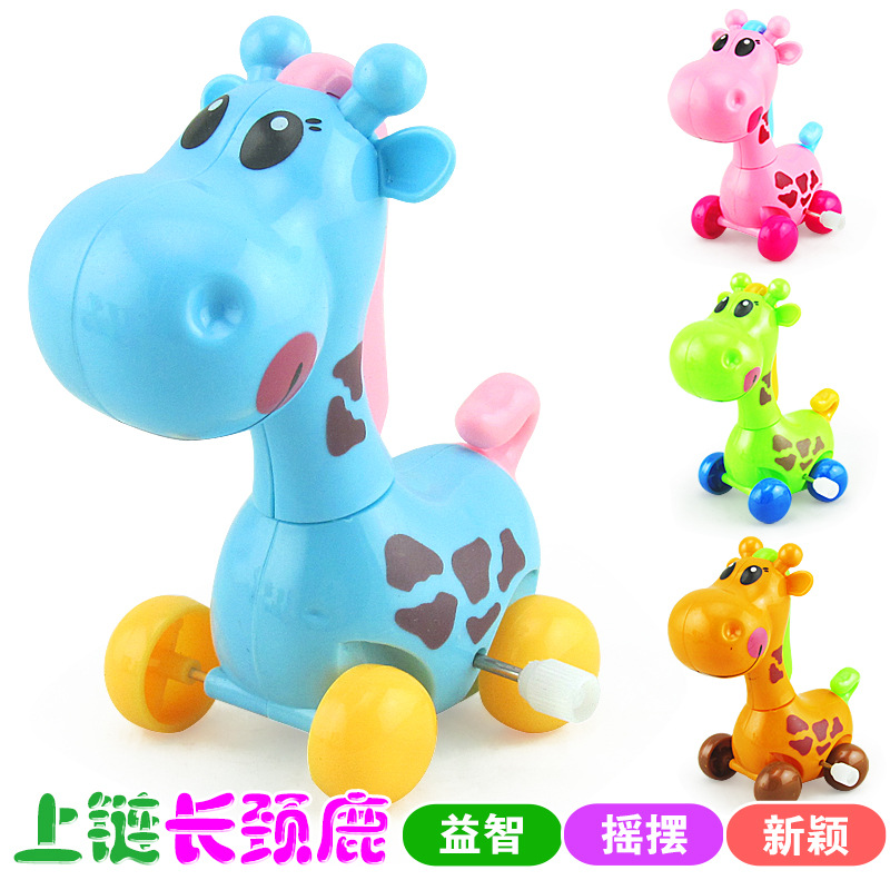 New Products Wind-up Toy/Winding Giraffe Winding Spring Cartoon Deer New Style Toy