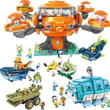 Les Octonauts Octopod Octopus Playset & Barnacles kwazii peso Inkling Duplo ENLIGHTEN Bricks Kids Toy Building Block Octo-Pod