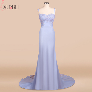 Image 2 - Bridesmaid Dresses Backless Mermaid Lilac Lace Straps Beaded Appliques Wedding Party Gown Robe demoiselle dhonneur