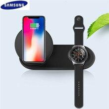 Cargador de teléfono inalámbrico 2 en 1 de 25W, soporte de carga rápida tipo C para Samsung Galaxy Note 9 S10 Plus Watch S2 3
