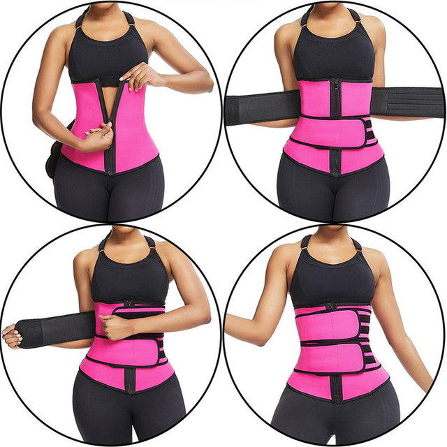 Sweat Waist Trainer Belt Women Weight Lose Body Shaper Sauna Slimming Strap Tummy Control Fat Burn Girdle Corset 3