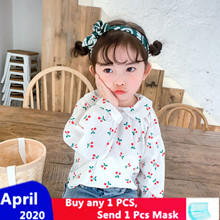 XINI MOMMY 2020 Spring Autumn Polka Dot Striped Fleece Shirt  girls blouse  toddler blouse  baby girl blouse  girls blouses Y115 blouse 0800500 49