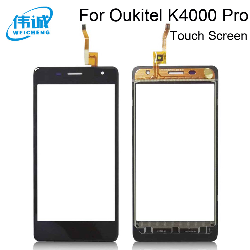 WEICHENG Top Quality Black&White Touch For <font><b>Oukitel</b></font> <font><b>K4000</b></font> Pro Touch Screen Digitizer Panel +Tools image