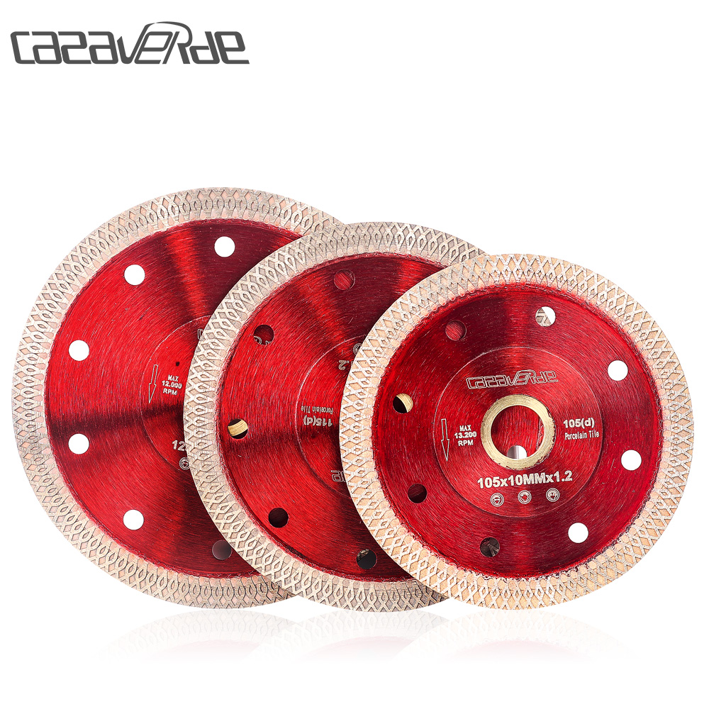 105/115/125mm Super Thin Porcelain Tile Saw Blade With Arbor 7/8