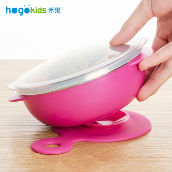 Hogokids Dishes Set of Children's Dishes Stainless Steel Bowl Children's Tableware for Feeding Baby Bowl Dinnerware 4 of set 1
