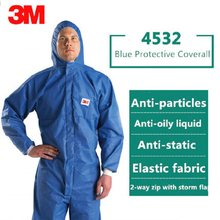 3M Protective Clothing 4532 Unisex Anti Static Chemical Liquid Splash Radiation Resistant Oily Particles Effectively Protection